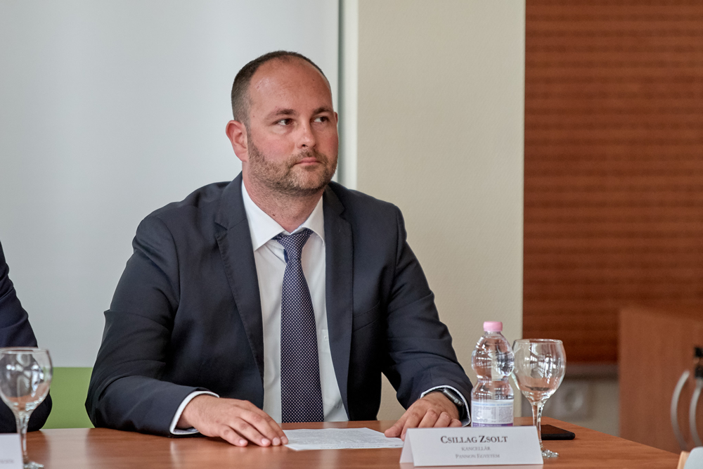 Csillag Zsolt, Chancellor of the University of Pannonia