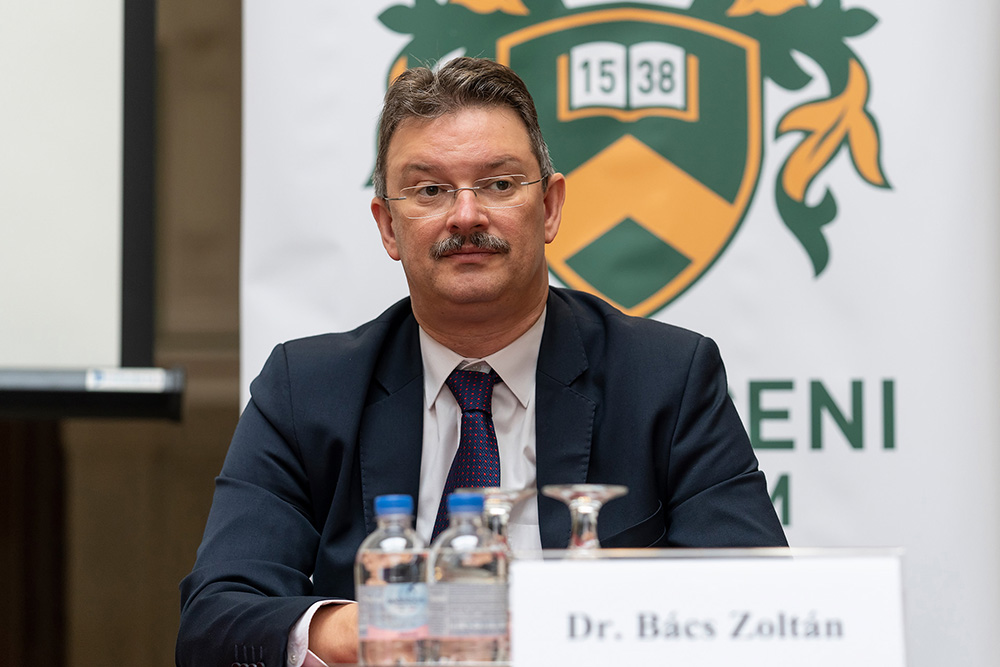 Prof. Dr. Zoltán Bács, Chancellor of the University of Debrecen